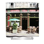 Le Charleston Bar In Tournus Shower Curtain