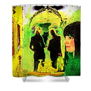 Le Chat Noir Shower Curtain by Chuck Staley