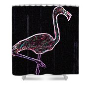Le Flamant Electrique Shower Curtain