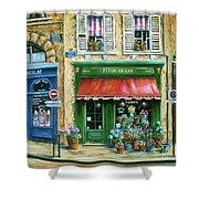 Le Fleuriste Shower Curtain by Marilyn Dunlap