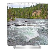 Le Hardy Rapids In Yellowstone River In Yellowstone National Park-wyoming   Shower Curtain