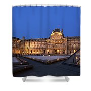 Le Louvre Palace Buildings And Pyramids Shower Curtain