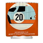 Le Mans Poster Shower Curtain by Naxart Studio