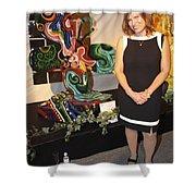 Le Mileau Mode Shower Curtain by Genevieve Esson