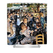 Le Moulin De La Galette Shower Curtain