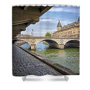 Le Pont Napoleon Paris Shower Curtain
