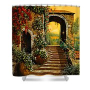 Le Scale   Shower Curtain by Guido Borelli