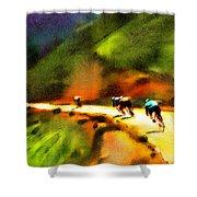 Le Tour De France 02 Shower Curtain