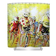 Le Tour De France 07 Acrylics Shower Curtain