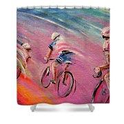 Le Tour De France 16 Acrylics Shower Curtain