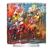 Le Tour De France Madness 04 Shower Curtain