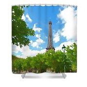 Le Tour Eiffel Shower Curtain