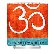 Lead Me Shower Curtain by Linda Woods