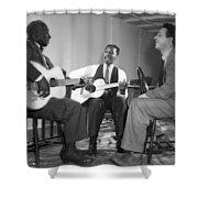 Leadbelly, Josh White, Nicholas Ray Shower Curtain