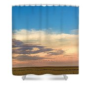 Leading Edge Storm Front And Moon Panorama Shower Curtain
