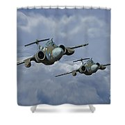'leads The Field' Shower Curtain