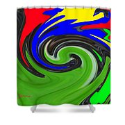 Leaf And Color Abstract Shower Curtain