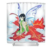 Leaf Fairy Shower Curtain