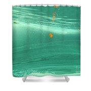 Leaf Floating Underwater Shower Curtain