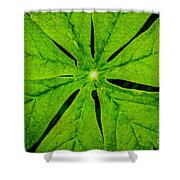Leaf Macro Shower Curtain