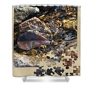 Leaf Puzzle-2 Shower Curtain