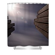 Lean Into The Light Shower Curtain