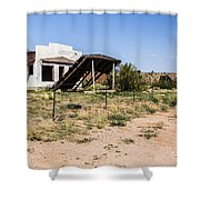 Lean To Shower Curtain