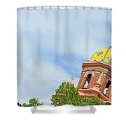 Leaning - Architectural Detail Shower Curtain