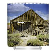 Leaning Barn Of Bodie California Shower Curtain