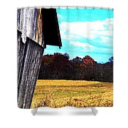 Leaning Shower Curtain