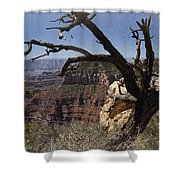 Leaning On The Everlasting Arms Shower Curtain