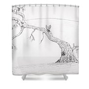 Leaning Pine Shower Curtain