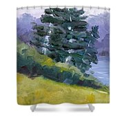 Leaning Pines Shower Curtain