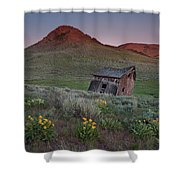 Leaning Shed Shower Curtain