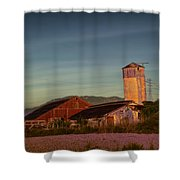 Leaning Silo  Shower Curtain by Bill Gallagher