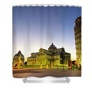 Leaning Tower By Dusk  Shower Curtain