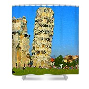 Leaning Tower Of Pisa Shower Curtain