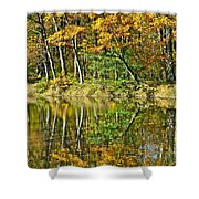Leaning Trees Shower Curtain