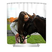 Leanna Abbey 13 Shower Curtain