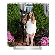 Leanna Abbey 2 Shower Curtain