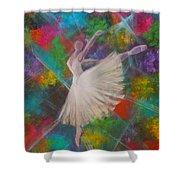 Leap Into Color Shower Curtain