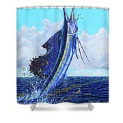 Leap Of Freedom Off0048 Shower Curtain