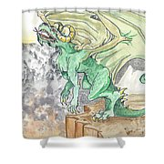 Leaping Dragon Shower Curtain