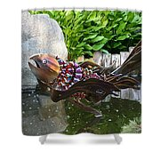 Leaping Koi Shower Curtain