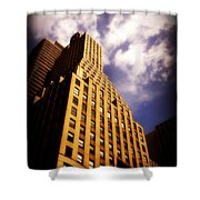 Leaps Tall Buildings With A Single Bound - Skyscraper Shower Curtain