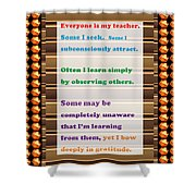 Learning Observation Teacher Student Gratitude Background Designs  And Color Tones N Color Shades Av Shower Curtain