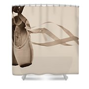 Learning To Fly Shower Curtain by Laura Fasulo
