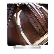 Leather And Iron Shower Curtain