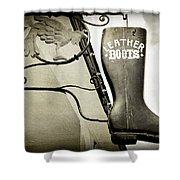 Leather Boots Shower Curtain