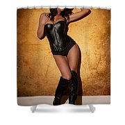 Leather Corset Shower Curtain